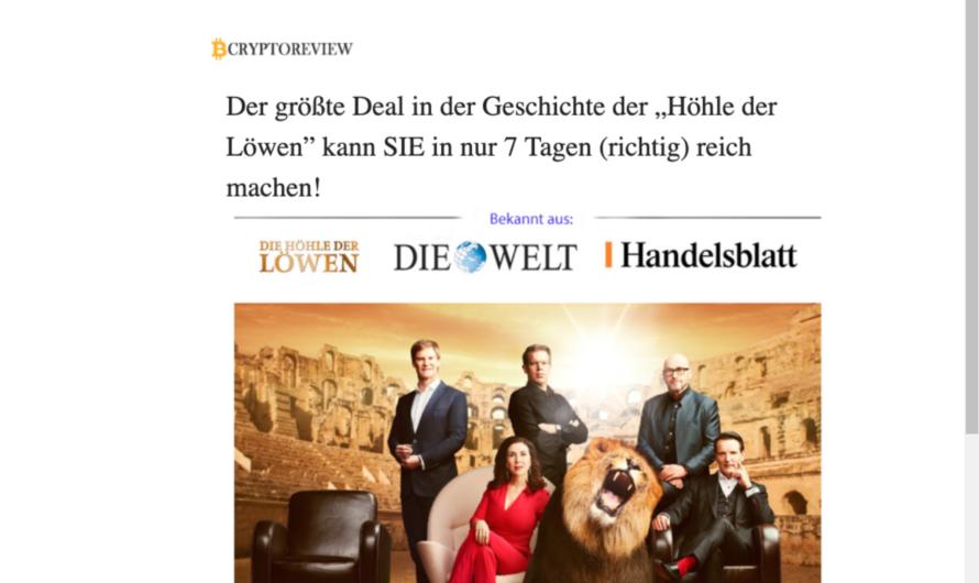 Achtung vor Bitcoin-Trader Daily Profit – Abzocke im Namen der Höhle der Löwen