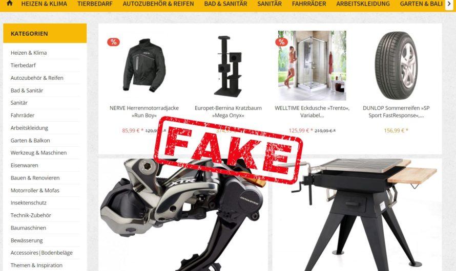 Warnung vor Onlineshop baumarkt24.expert