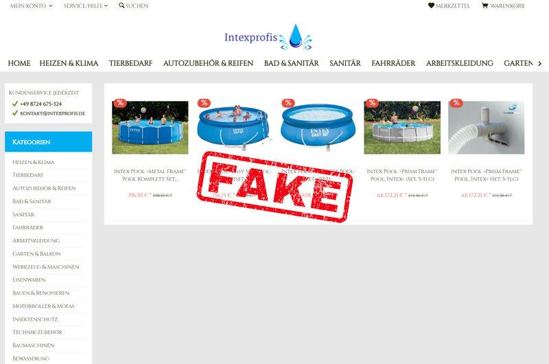 Warnung vor Onlineshop intexprofis.de