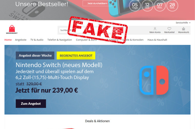 Warnung vor Onlineshop mediesmarkt.de