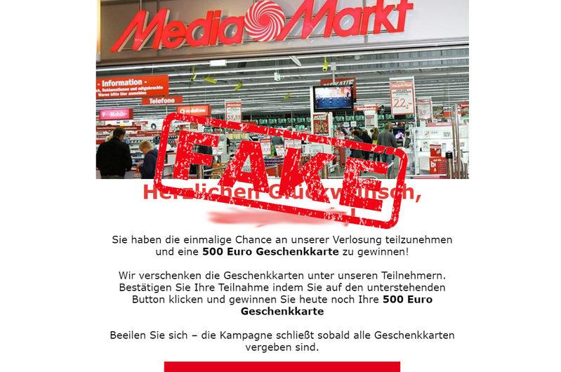 Warnung vor Datensammlern – Media Markt Einkaufsgutschein