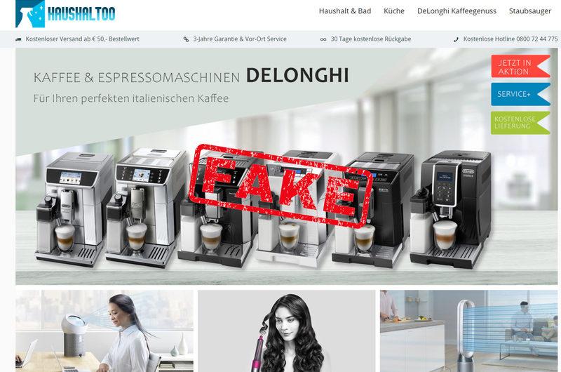 Warnung vor Onlineshop haushaltoo.net