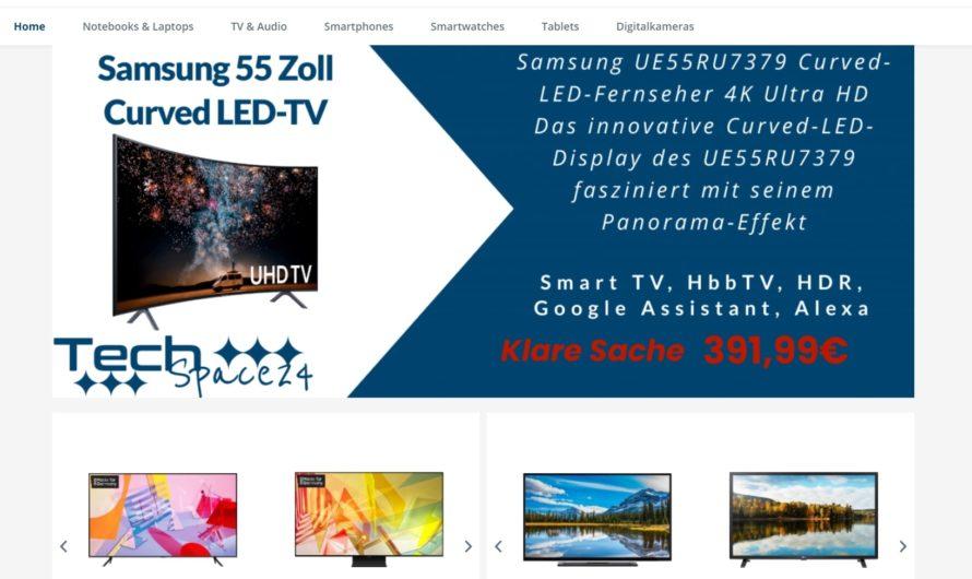 Warnung vor Onlineshop tech-space24.de