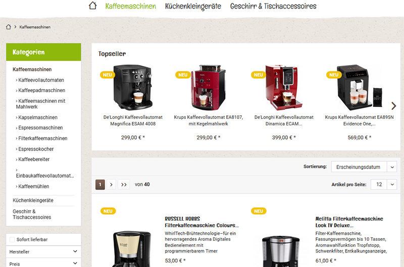Warnung vor Onlineshop kaffeetime.de