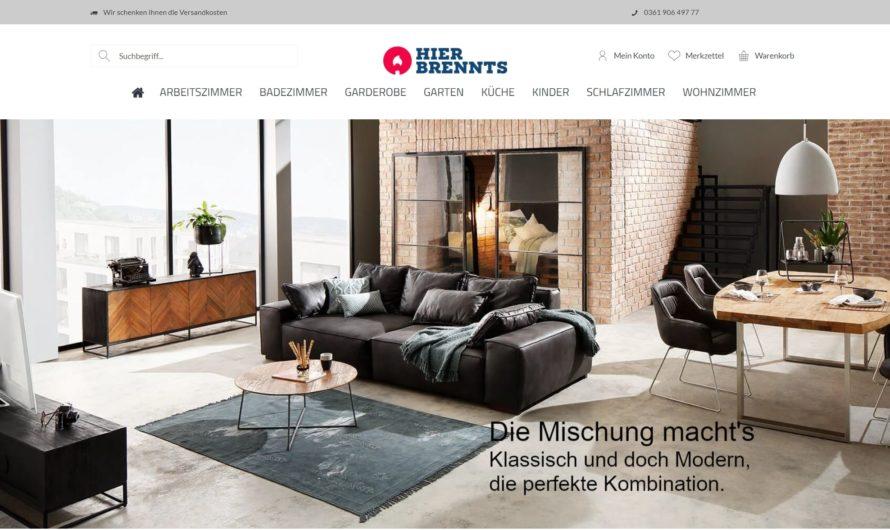 Warnung vor Onlineshop hier-brennts.de