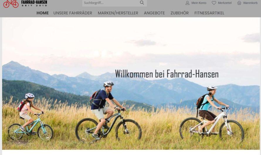 Warnung vor Onlineshop fahrrad-hansen.com